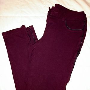 Maurices Burgundy Jeggings